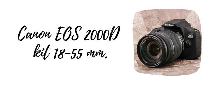 Canon EOS 2000D kit 18-55 mm.