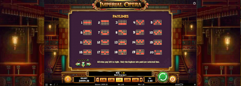 Imperial Opera - payline